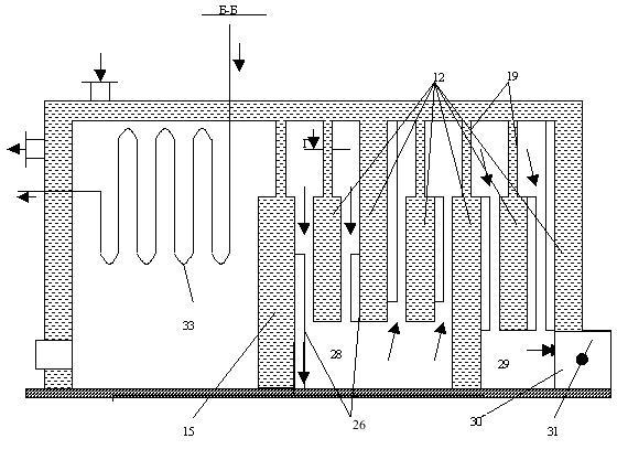 Схема движения воды водогрейного котла