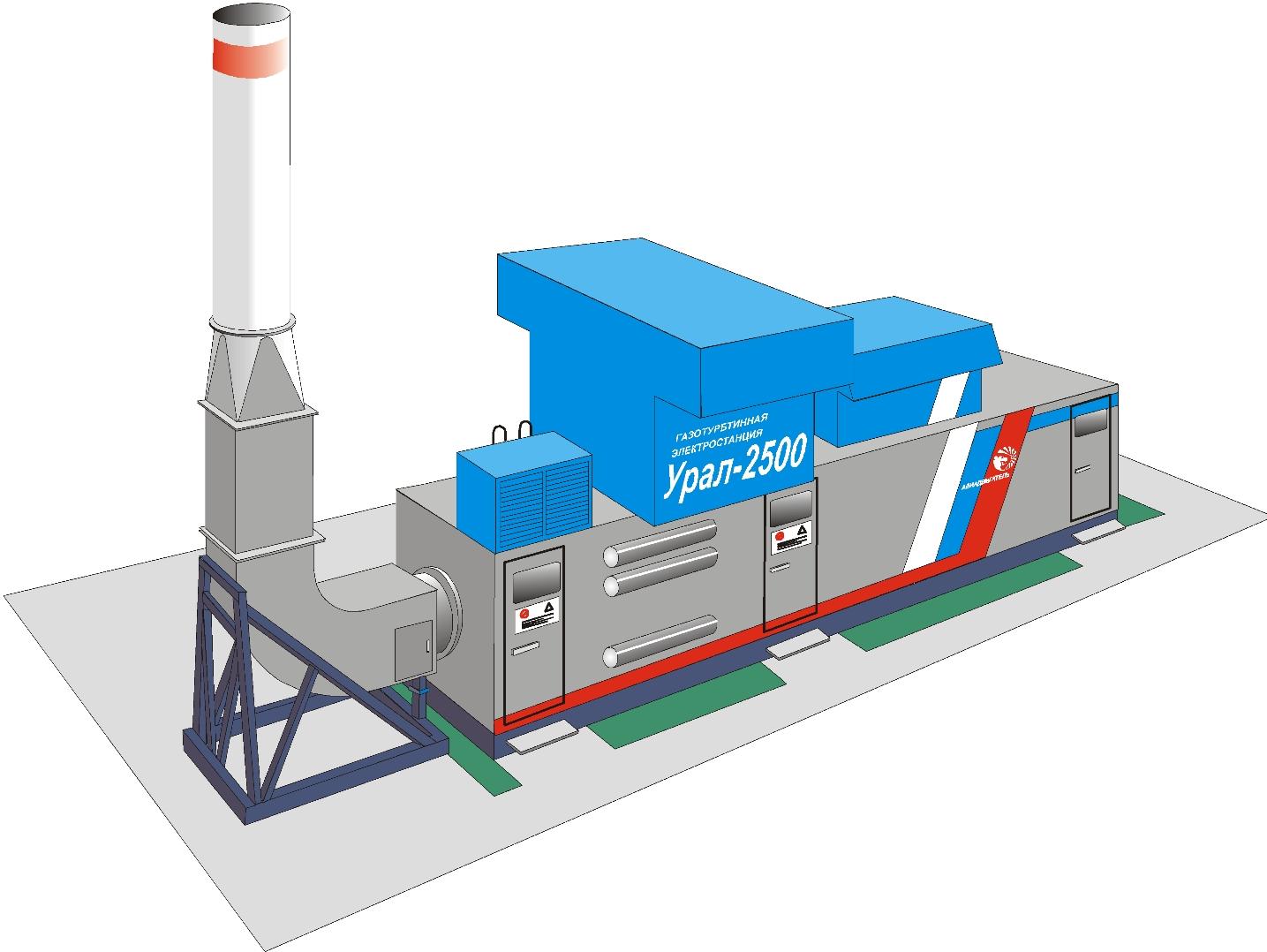 Схема газотурбинной электростанции 100 мвт